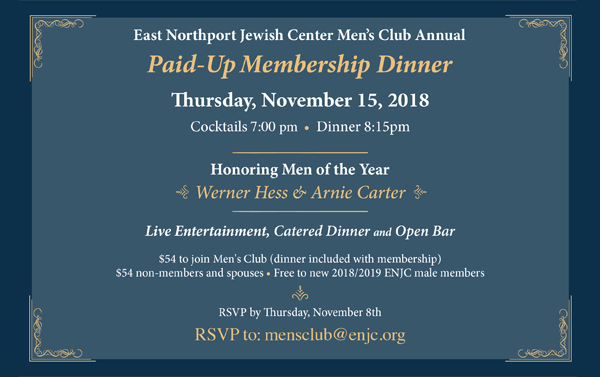Men's Club Paid-Up Membership Dinner