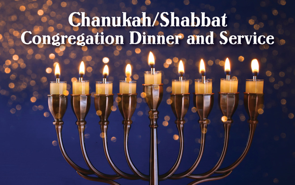 Congregational Chanukah Shabbat Dinner